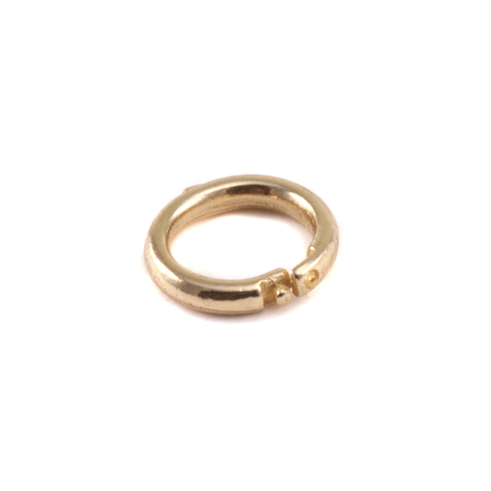 Jump Rings Brass 6mm I.D. Locking Ring, Pack of 5